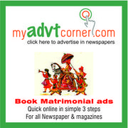 Book Classified and Display Ads in Any Indian Newspaper