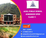 Axel Public School: Admission Open for Class XI 2016-2017.